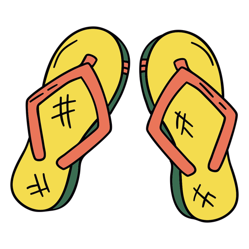Tanga sandles símbolo dibujado a mano Transparent PNG