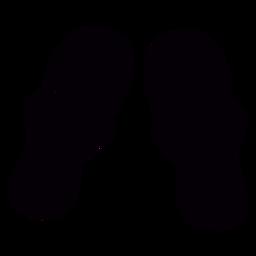 Tanga sandles dibujado a mano símbolo negro