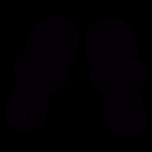 Tanga sandles dibujado a mano símbolo negro Transparent PNG