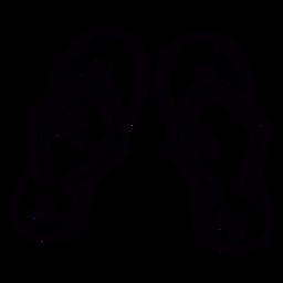 Thong sandles hand drawn symbol stroke
