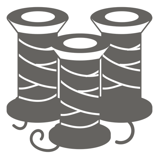 Icono de carrete de carrete de hilo gris