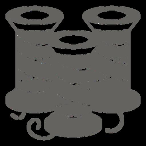 Thread reel spool grey icon