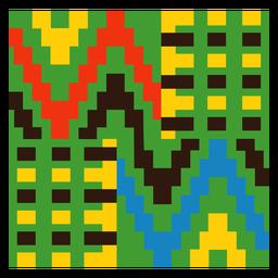 Composição tradicional colorida kente