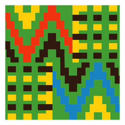Traditional colorful kente composition
