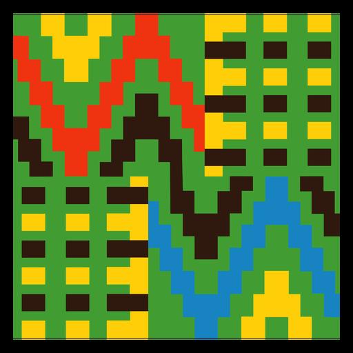 Composición tradicional kente colorida
