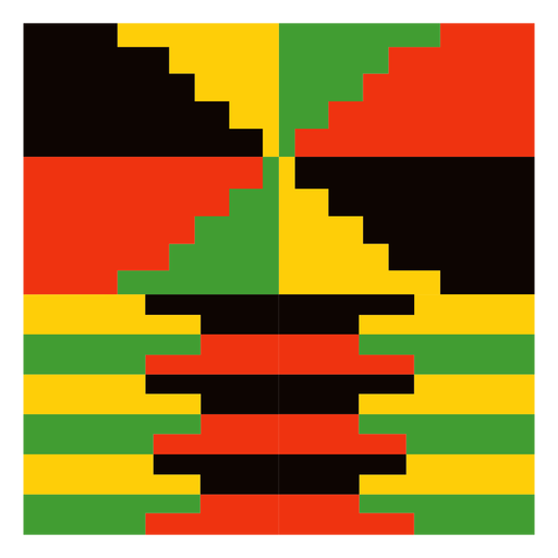 Traditional kente composition