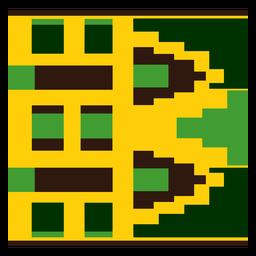 Composição tradicional kente de triângulo quadrado