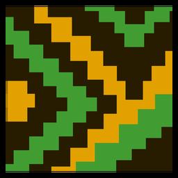Composição tradicional da escada kente