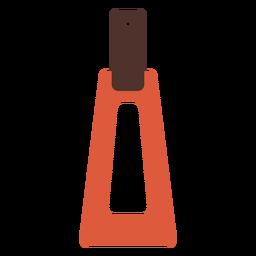 Pendiente de cuero trapezoidal plano