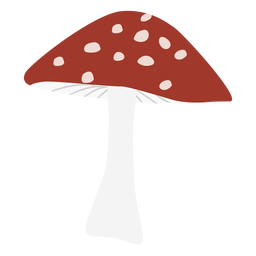 Gorra triangular símbolo plano de hongo manchado