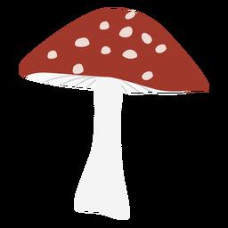 Triangle cap spotted mushroom flat symbol