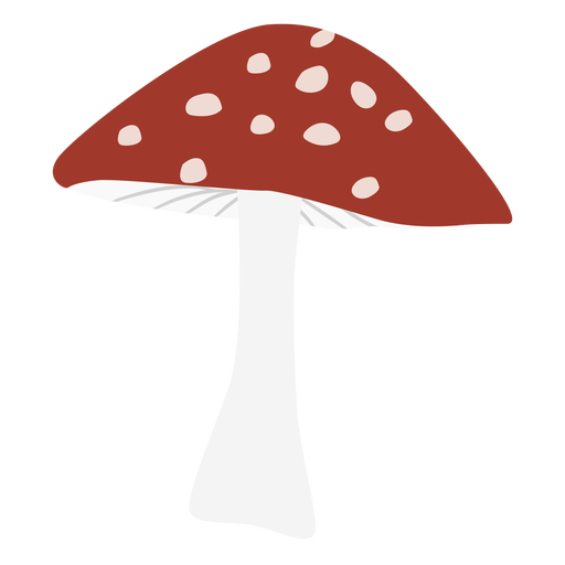 Triangle cap spotted mushroom flat symbol Transparent PNG