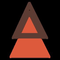 Pendientes de piel triangulares planos