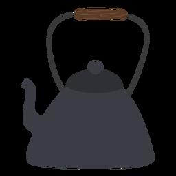 Triangular tea pot with handle flat