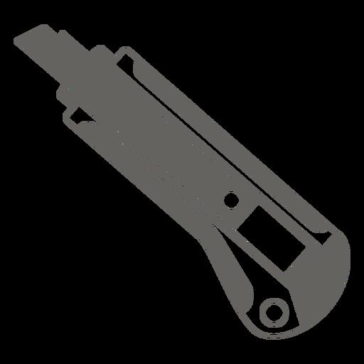 Utility knife grey icon