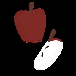 Rebanada de manzana entera plana