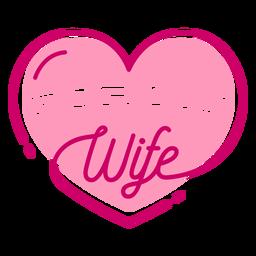 Letras de san valentín corazón de esposa