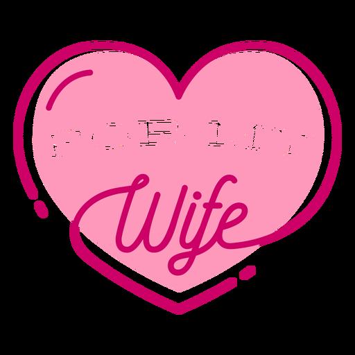Letras de esposa com coração dia dos namorados