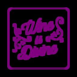 Wein göttlicher lila quadratischer Untersetzer