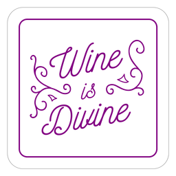 Wine divine purple square coaster