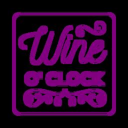 Porta-copos quadrado do vinho