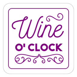 Wine oclock square coaster