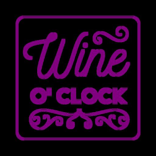 Wine oclock square coaster