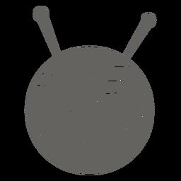Graues Symbol der Garnkugelnadeln