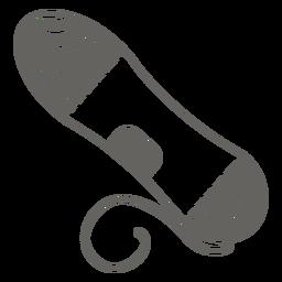 Graues Symbol der Garnspule