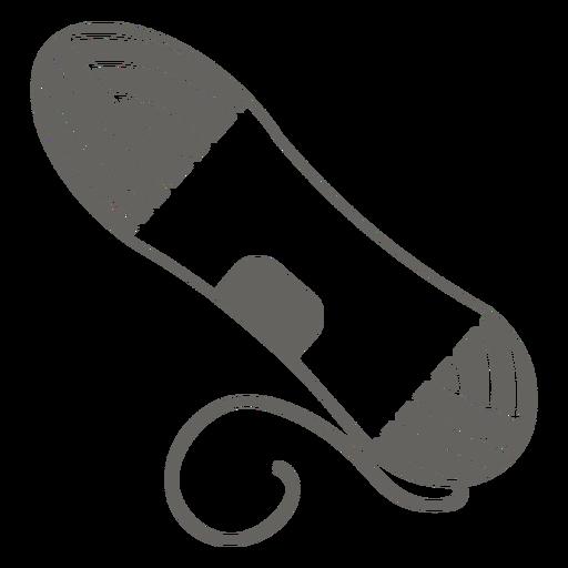 Yarn spool grey icon
