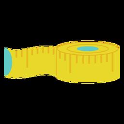 Fita métrica de pano amarelo plana