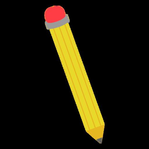 Yellow pencil flat icon