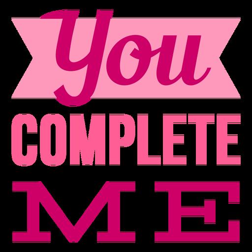 Me completas el diseño de letras de San Valentín