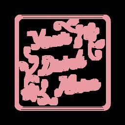Sua bebida aqui floral porta copos de arenito