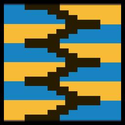 Composición de zig zag kente