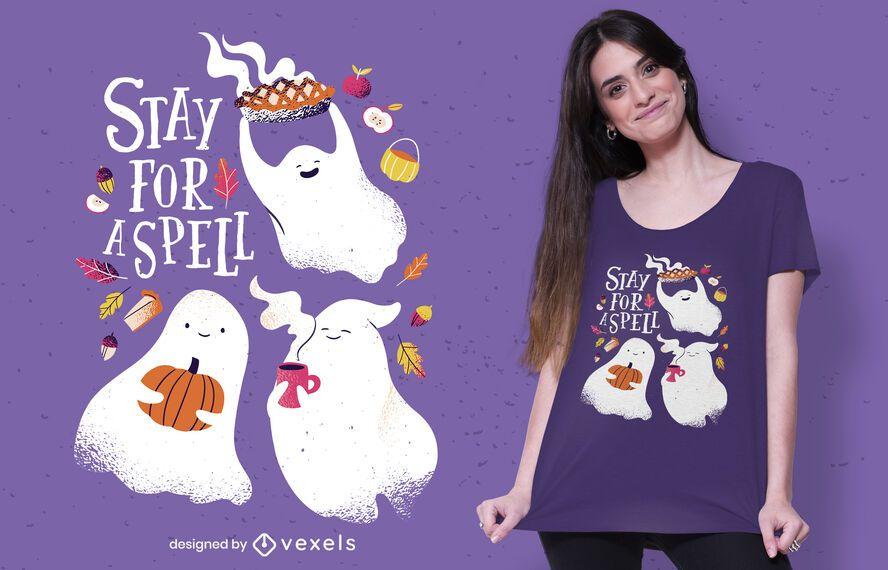 Halloween spell t-shirt design