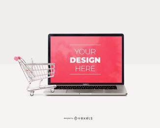 Shopping cart ipad mockup