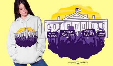 Diseño de camiseta blm protest