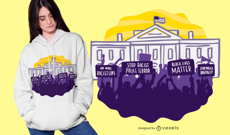 Blm protest t-shirt design