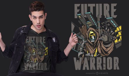 Diseño de camiseta de Future Warrior