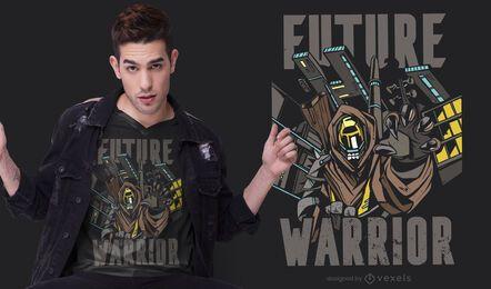 Projeto futuro do t-shirt do guerreiro