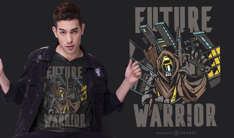 Diseño de camiseta de Future Warrior