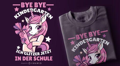 Design engraçado do t-shirt do unicórnio alemão