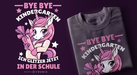 Funny German Unicorn T-shirt Design