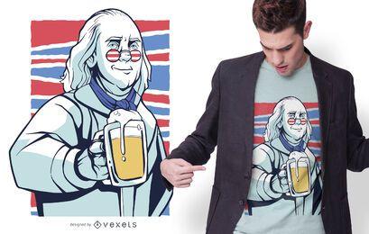 Diseño de camiseta de cerveza Franklin