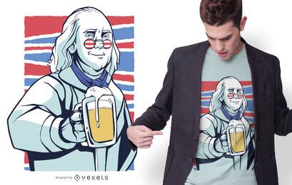 Franklin beer t-shirt design
