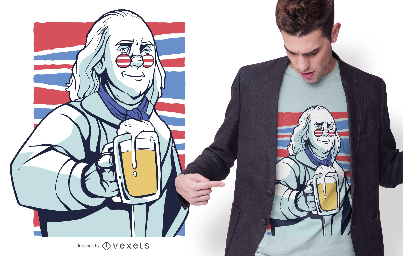 Franklin beer t-shirt design