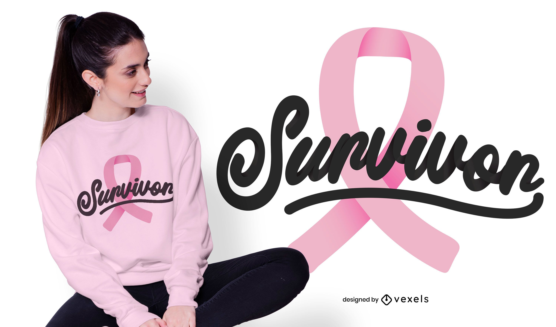 Breast cancer survivor t-shirt design