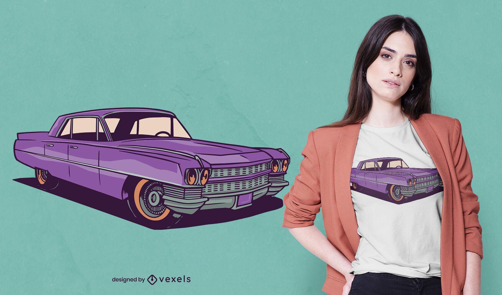 Vintage car t-shirt design