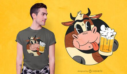 Cow beer t-shirt design